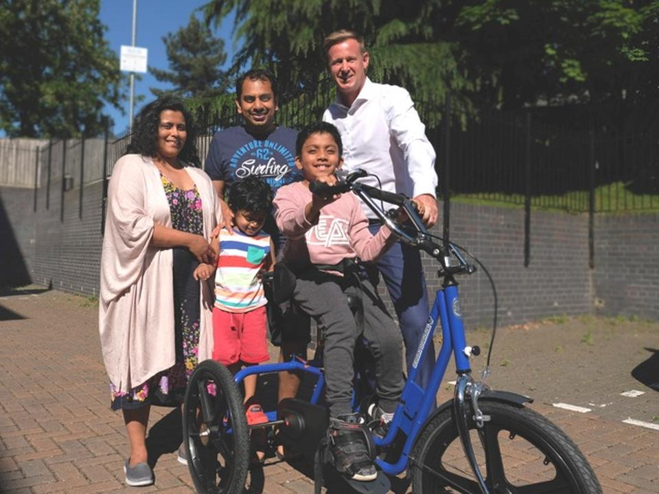 9-year-old Govind Rides a Trike for the First Time