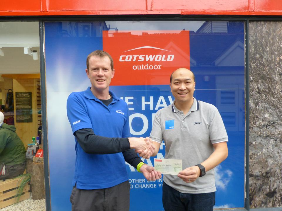 Cotswold Outdoor Donates £500 to DWAD